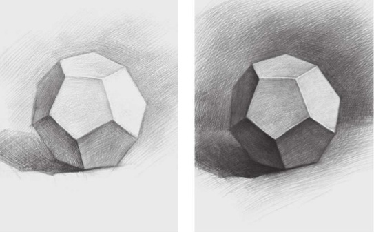 素描正五边形多面体的画法(2)