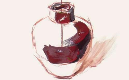 色彩陶罐的表现技法解析(2)