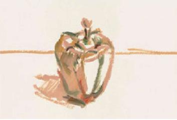 色彩青椒的画法(1)