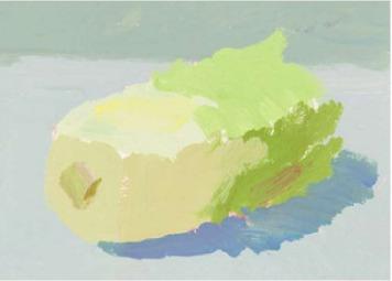 色彩大白菜的画法(2)