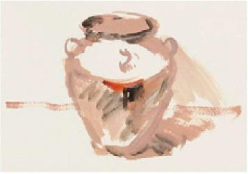 色彩深色陶罐的画法(1)