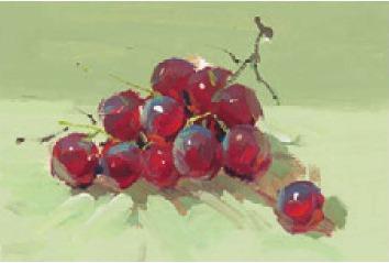 色彩葡萄的画法(4)