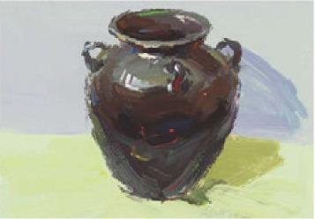 色彩深色陶罐的画法(4)
