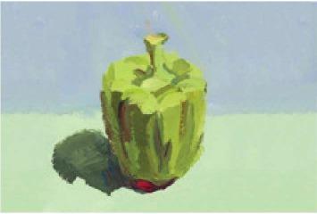 色彩青椒的画法(3)