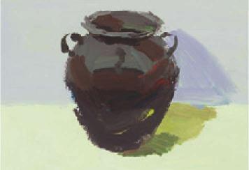 色彩深色陶罐的画法(2)