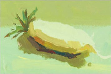 色彩白萝卜的画法(3)