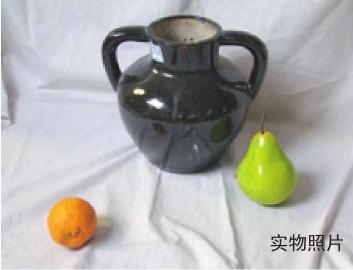陶罐水果色彩组合的画法(1)