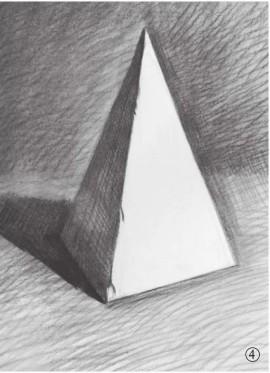 石膏四棱柱体的画法(4)