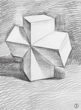 石膏石膏正方体的画法(3)