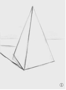 石膏四棱柱体的画法(1)