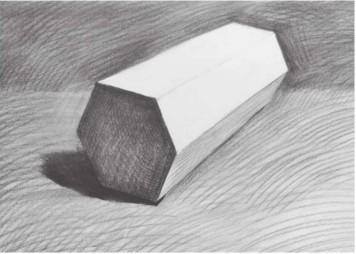 石膏六棱柱体怎么画(4)
