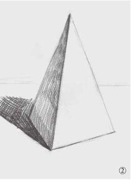 石膏四棱柱体的画法(2)