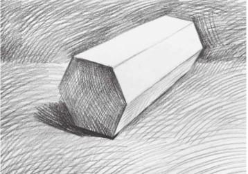 石膏六棱柱体怎么画(3)