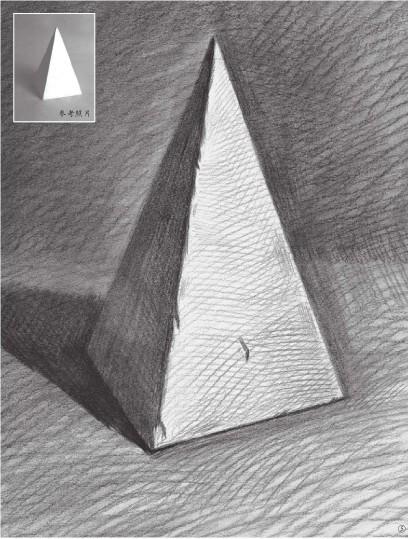 石膏四棱柱体的画法(5)