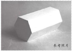 石膏六棱柱体