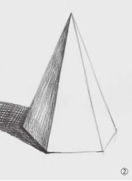 石膏六棱锥体素描图片(2)