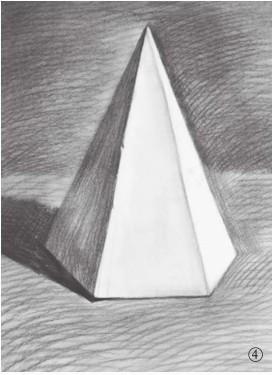 石膏六棱锥体素描图片(4)