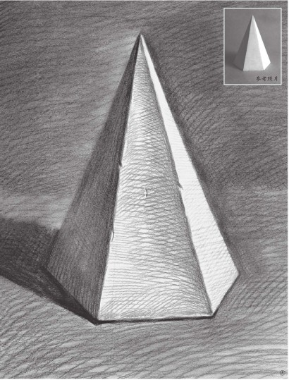 石膏六棱锥体素描图片(5)