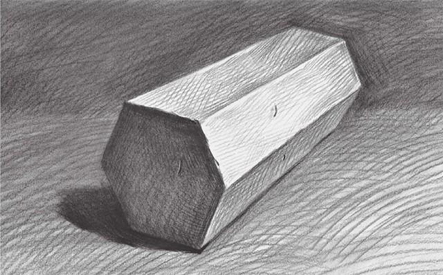 石膏六棱柱体怎么画(5)