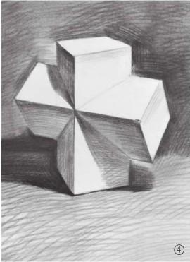 石膏石膏正方体的画法(4)