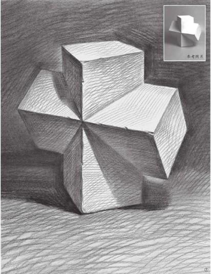 石膏石膏正方体的画法(5)