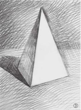 石膏四棱柱体的画法(3)
