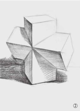 石膏石膏正方体的画法(2)