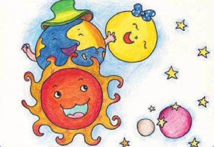 少儿美术技法教程-日月星辰(5)