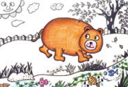 少儿美术技法教程-熊宝宝乐园(3)