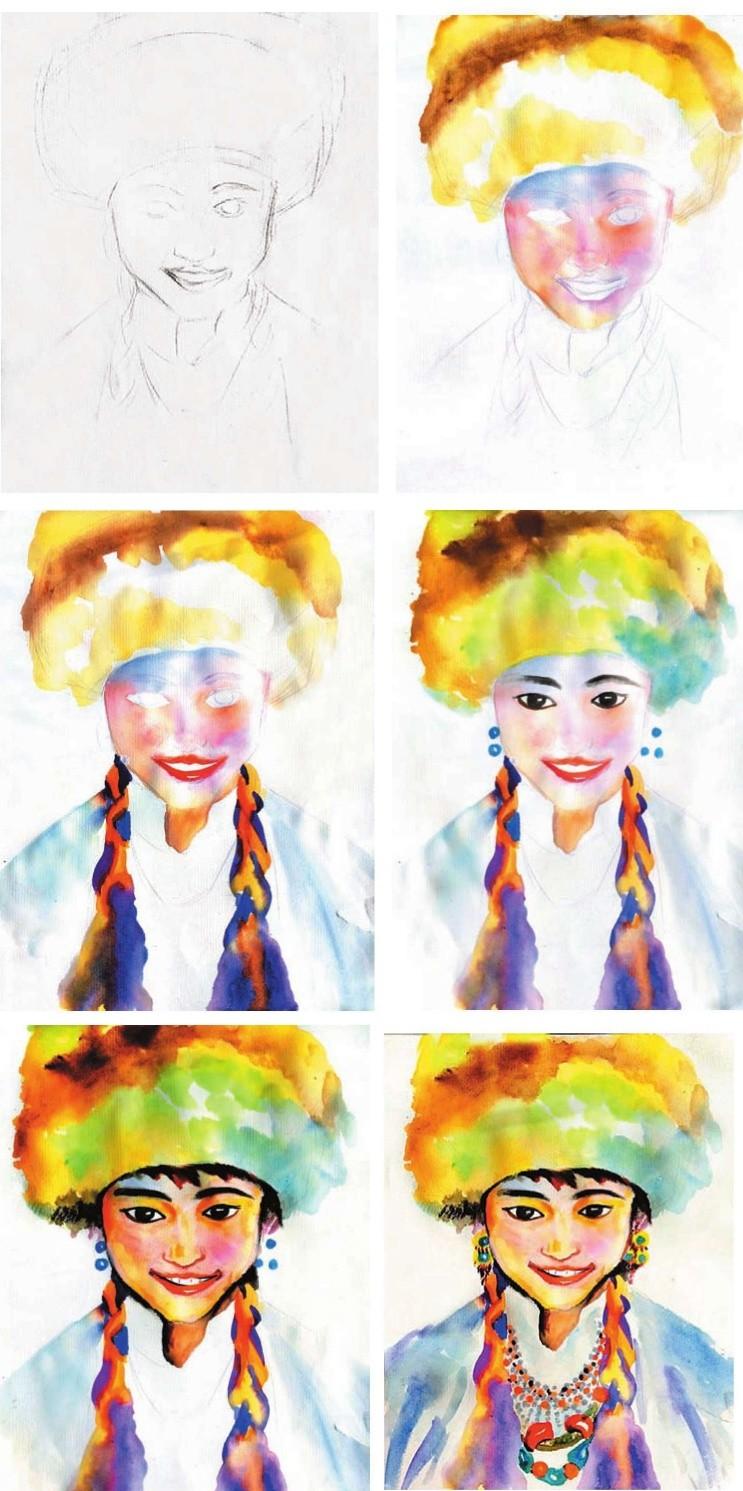 少儿美术系列教程-少女写生