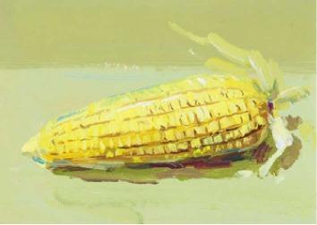 色彩玉米的画法(4)