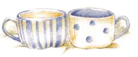 白蓝瓷杯(2)