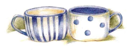 白蓝瓷杯(3)