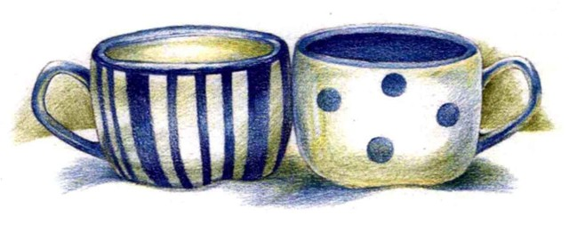 白蓝瓷杯(4)