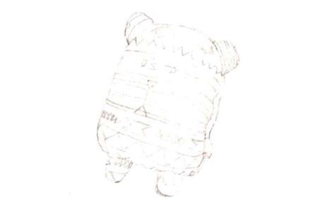 彩色布偶熊怎么画(1)