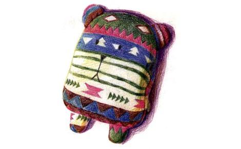 彩色布偶熊怎么画(4)