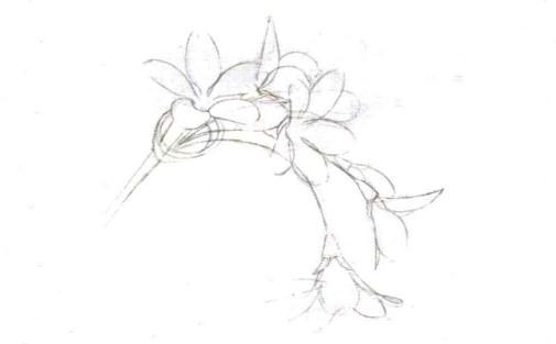 儿童花朵发簪怎么画(1)