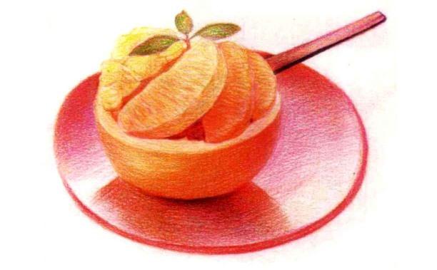 儿童鲜橙怎么画(4)