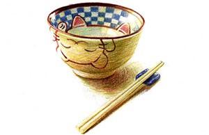 儿童小猫瓷碗怎么画(2)