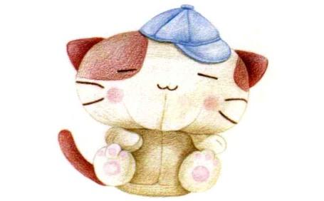儿童小猫布偶怎么画(4)
