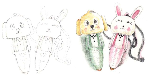 儿童小动物笔怎么画(1)