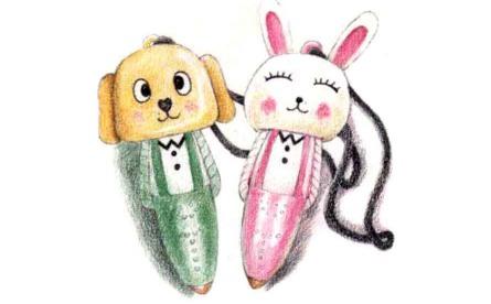 儿童小动物笔怎么画(2)