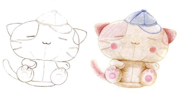 儿童小猫布偶怎么画(1)
