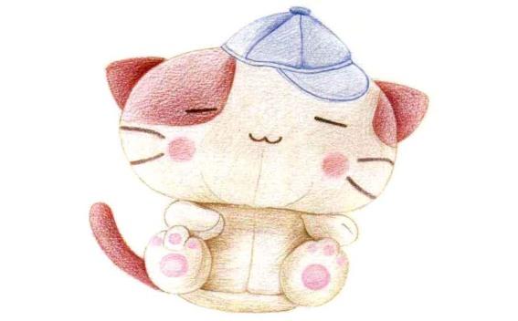 儿童小猫布偶怎么画(3)