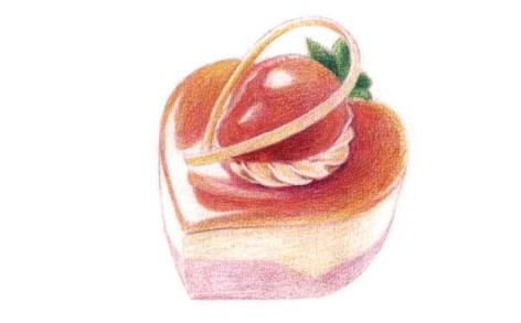 儿童心形蛋糕怎么画(3)