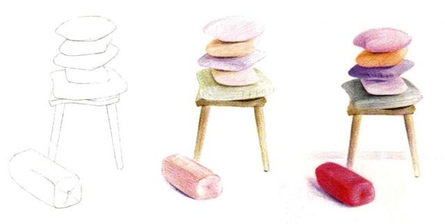 儿童椅子和靠枕怎么画(1)