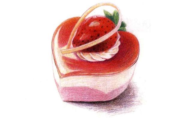 儿童心形蛋糕怎么画(4)