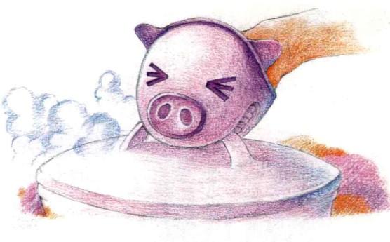 儿童小猪手套怎么画(3)