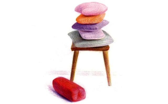 儿童椅子和靠枕怎么画(2)