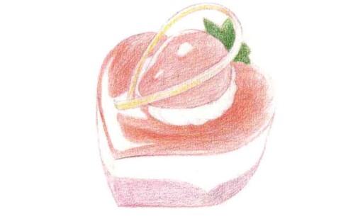 儿童心形蛋糕怎么画(2)